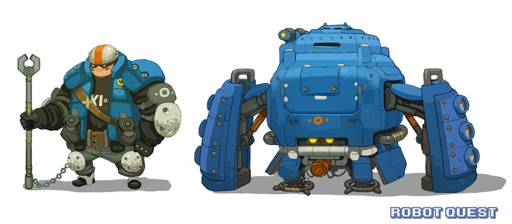 RobotQuest Mech3 comp by Nerd-Scribbles