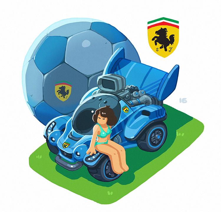 Rocket League Ferrari by Nerd-Scribbles