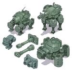 Mech Tank Concept Art