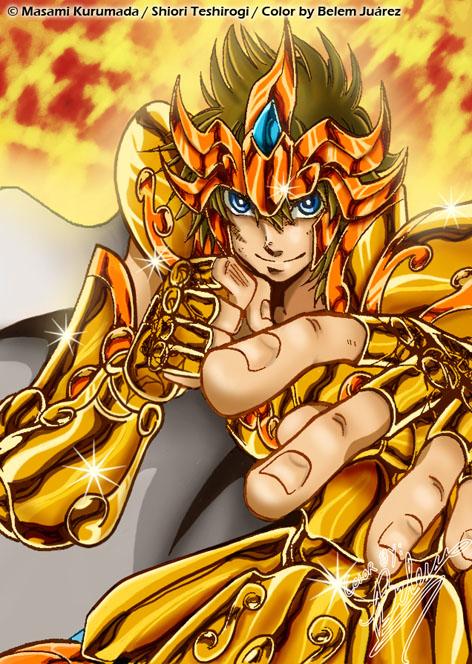 Saint Seiya:Legends Gaiden Regulus__Leo_Gold_Saint_by_Mavrika