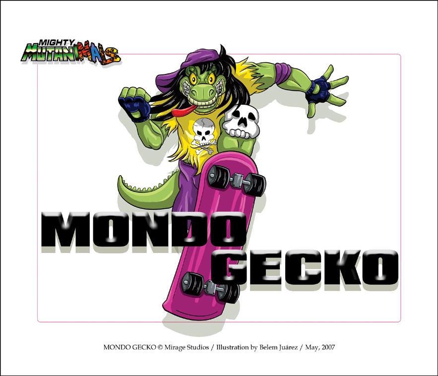 Mondo Gecko Pinup by Mavrika
