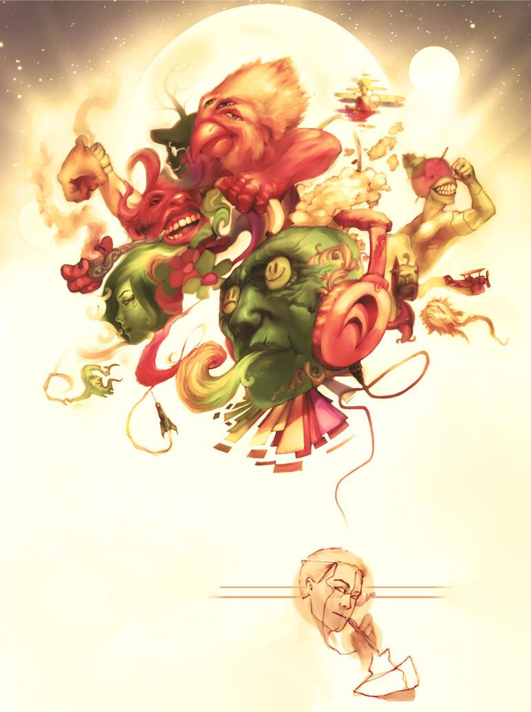 art brains by Radouu