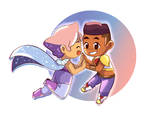 Chibi Glimmer and Bow