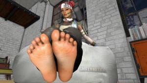 Apex Legends - Lifeline Feet up by Smexy-Nation