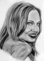 Angelina Jolie portrait by fatihsultan