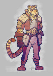 Pirate Tiger - more iPad sketch fun by revoincubus