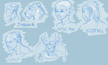 Quick iPad animal-inspired faces by revoincubus