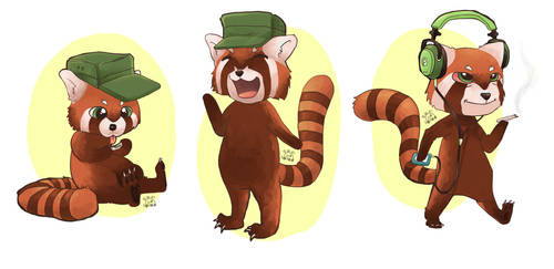 Final mascot designs for TeaHC