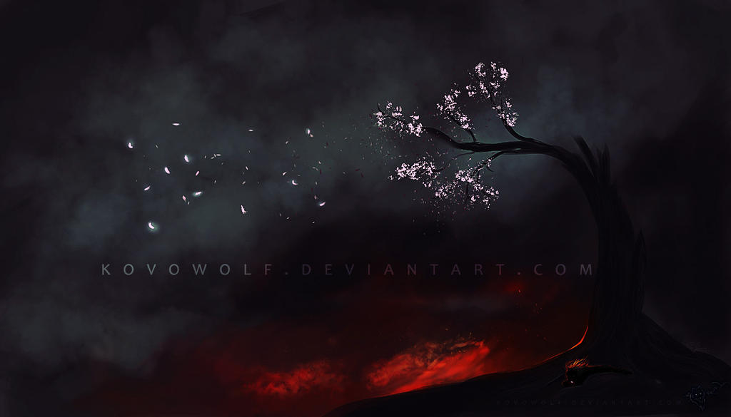 Bloosom In Darkness by KovoWolf