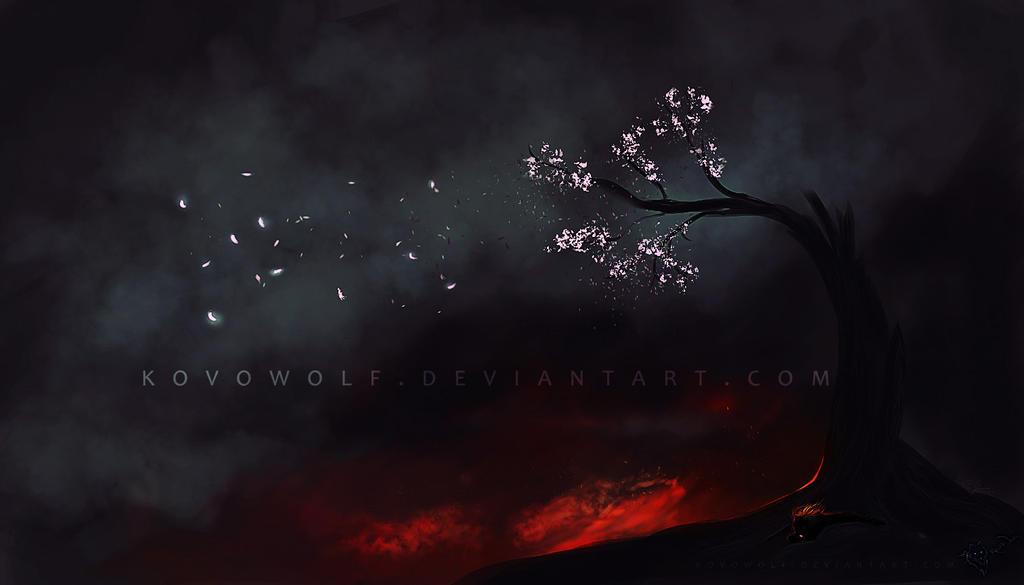 Bloosom In Darkness by KovoWolf