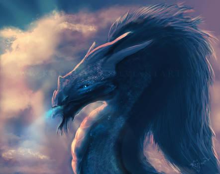 Ice Dragon At Dawn