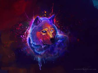 A Dashing Splash Of Color by KovoWolf