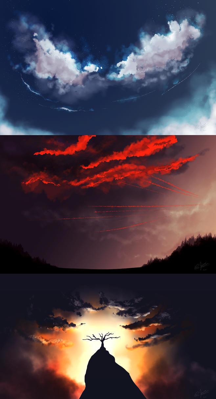Cloud Study by KovoWolf