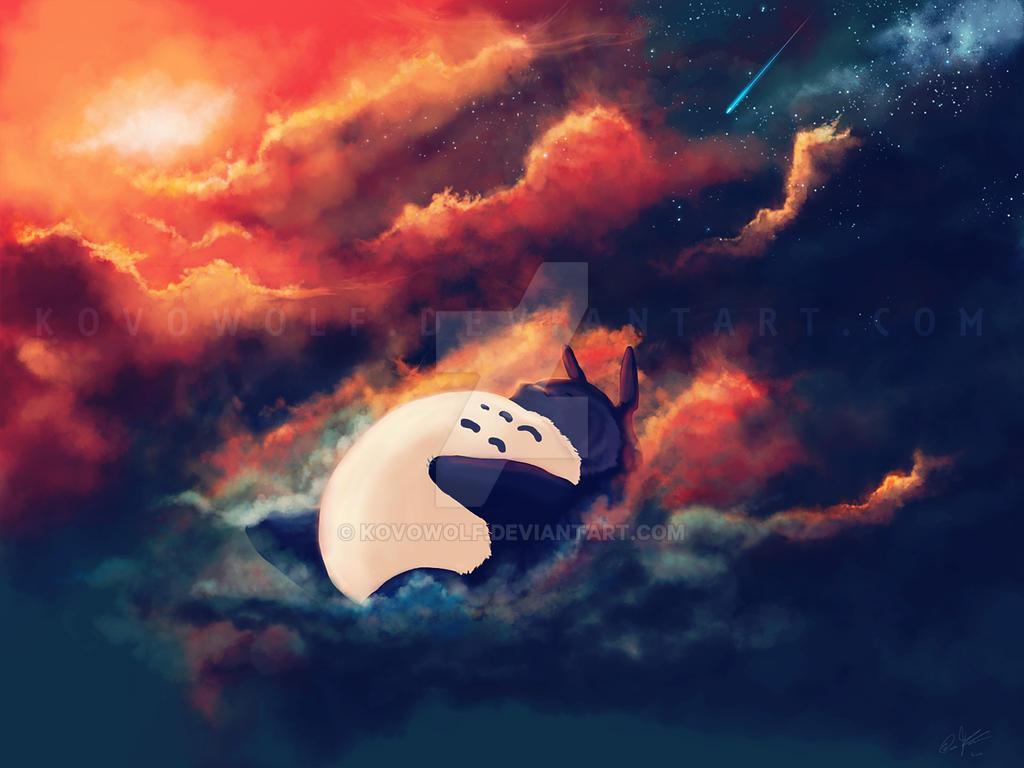 Totoro's Slumber by KovoWolf