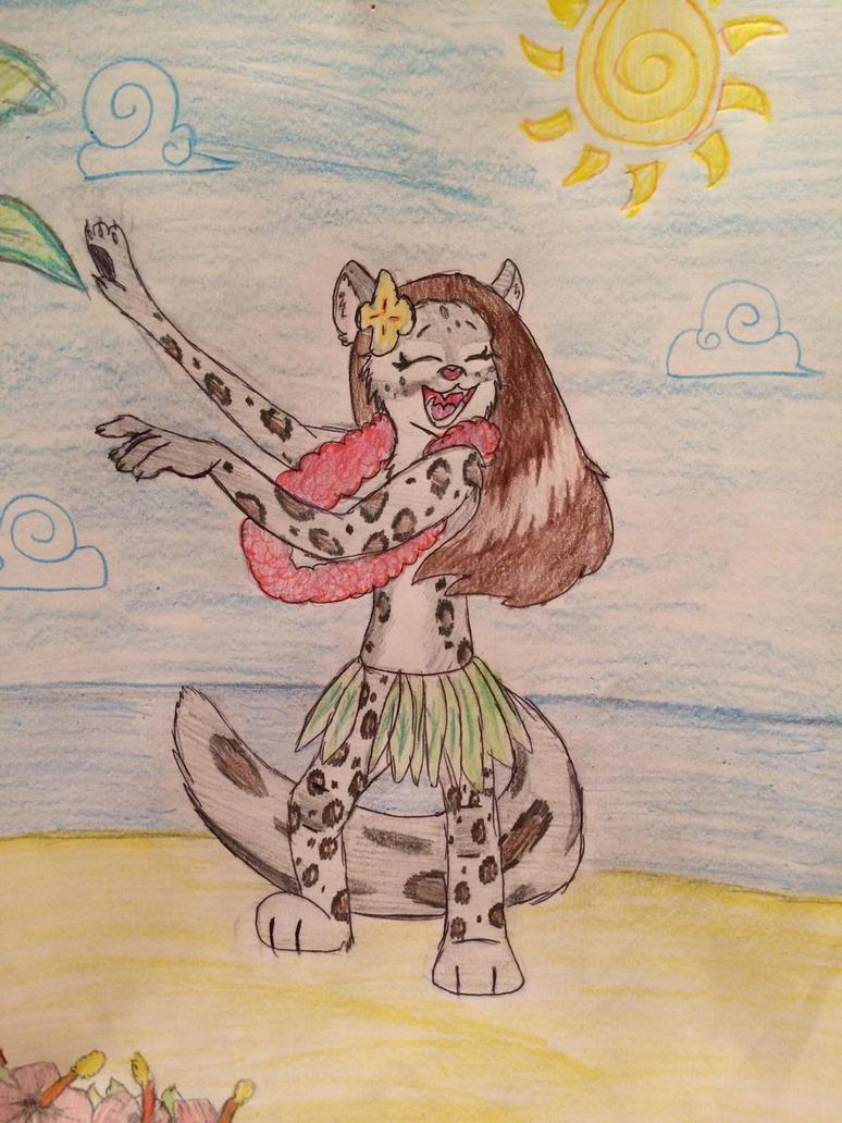 Hula leopard drawing by F00000d