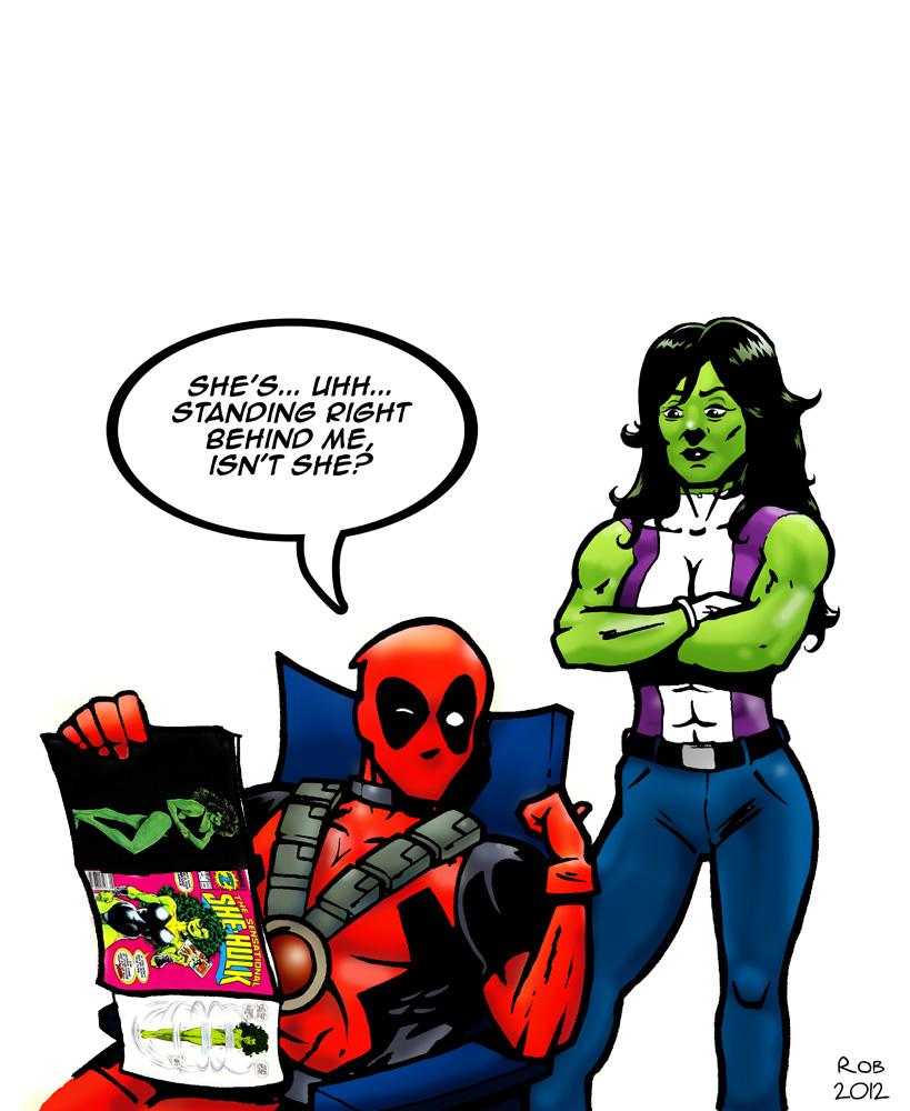Deadpool vs She Hulk by R0b0C on DeviantArt