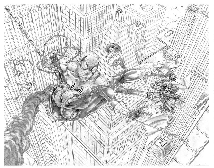 spiderman vs. green goblin by KevinLJones on DeviantArt