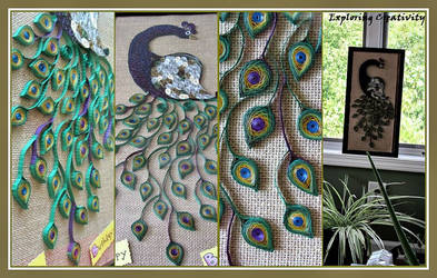 Quilling Peacock Frame