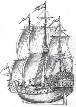 Old Ship Drawings