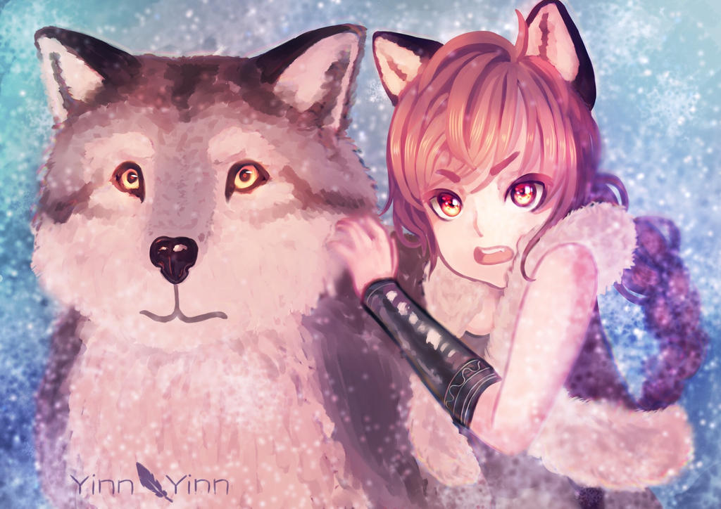 Alina and Wolf by YinnYinn