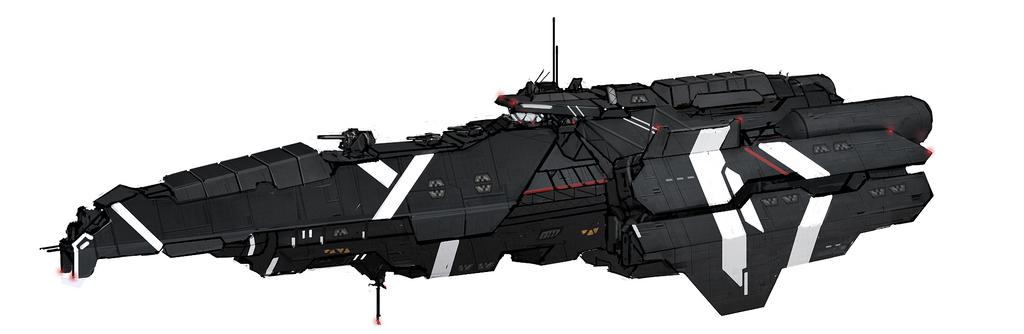 UNSC Thanatos destroyer by Kwibl