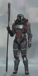 Pole arm trooper by Kwibl