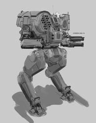 Battletech Chimera Sketch by Kwibl