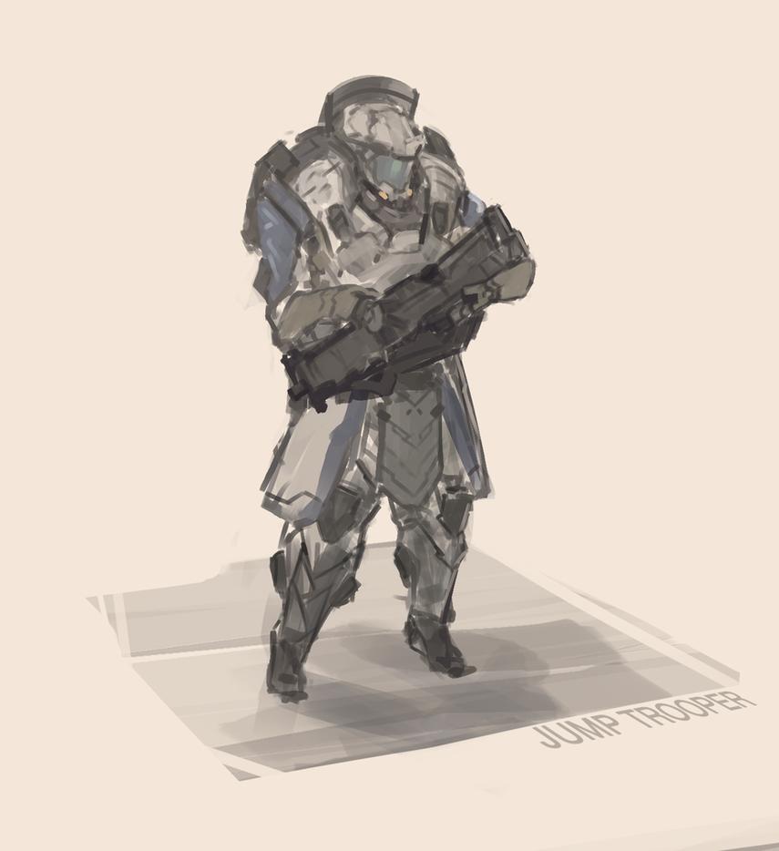 Jump Jet Trooper by Kwibl