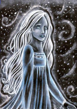 Spirit in the snowstorm by DreamyNaria