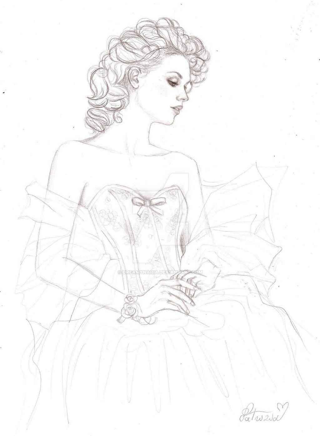 Bride sketch by DreamyNaria