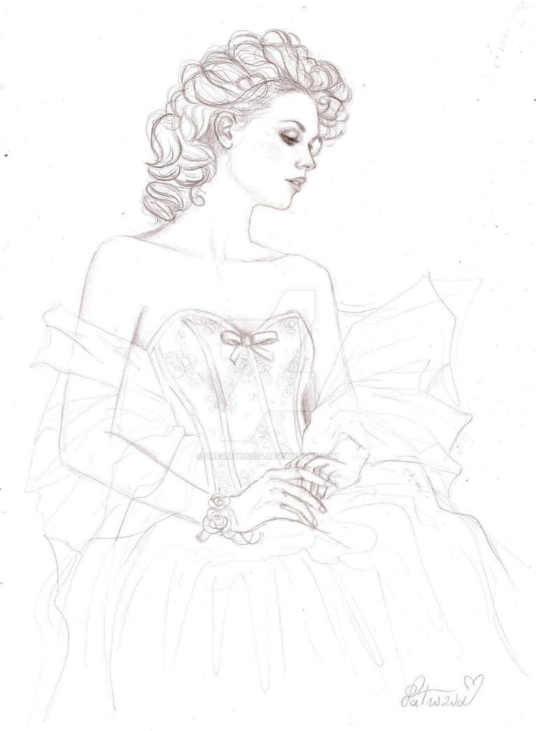 Bride sketch by DreamyNaria