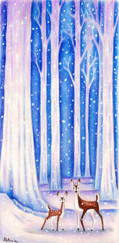 Frosty enchanted woods