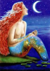 Enjoying moonlight by DreamyNaria