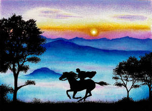 Riding at the dawn