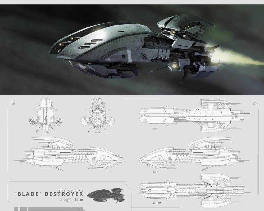 Eve Online - Blade Destroyer by kianchai