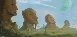Four Kings - Landscape Painting
