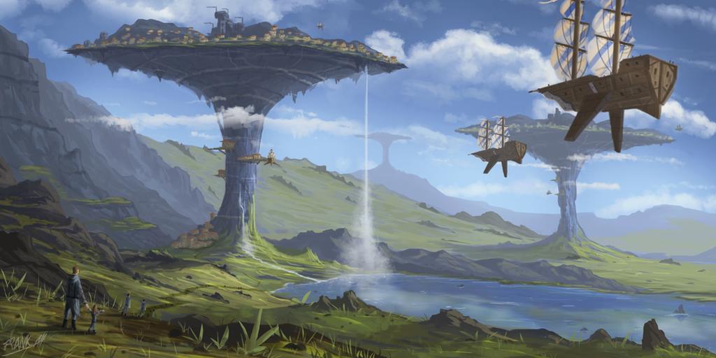 Blue Mushrooms by FrankAtt