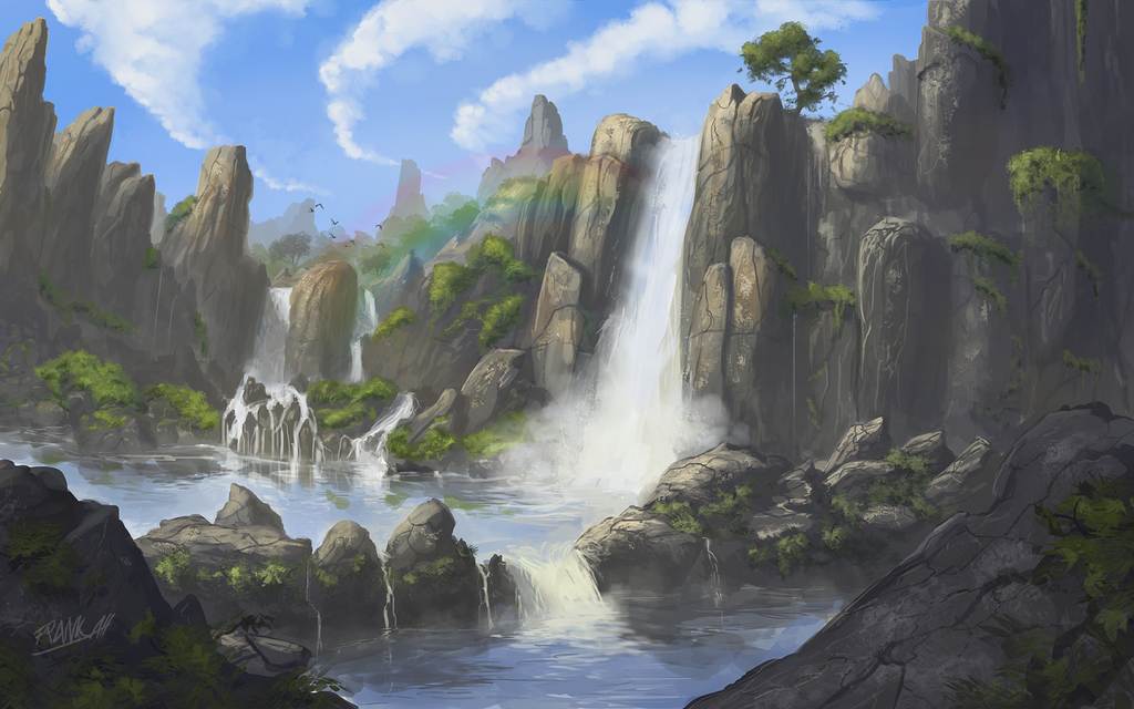 Waterfall Glade by FrankAtt