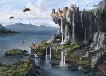 The Calm Cliff by FrankAtt