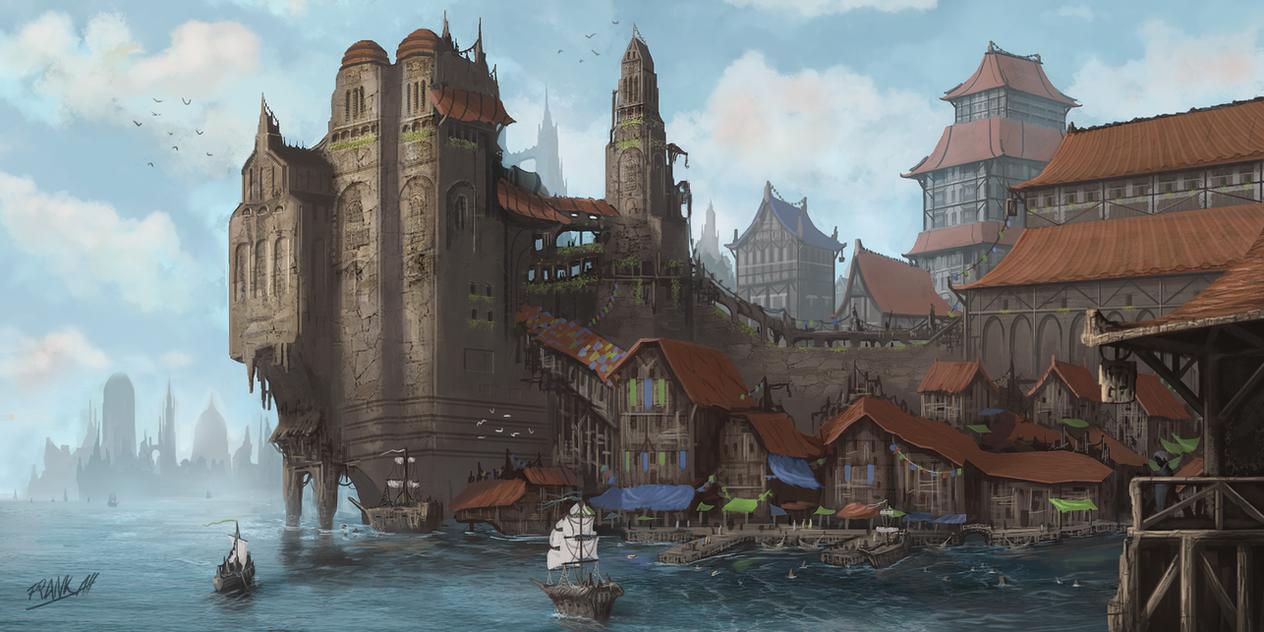 Docks Of Valura by FrankAtt