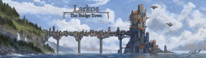 Larkos - The Bridge Town by FrankAtt