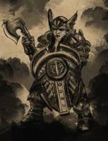 Dwarf Warrior Woman by fosspathei