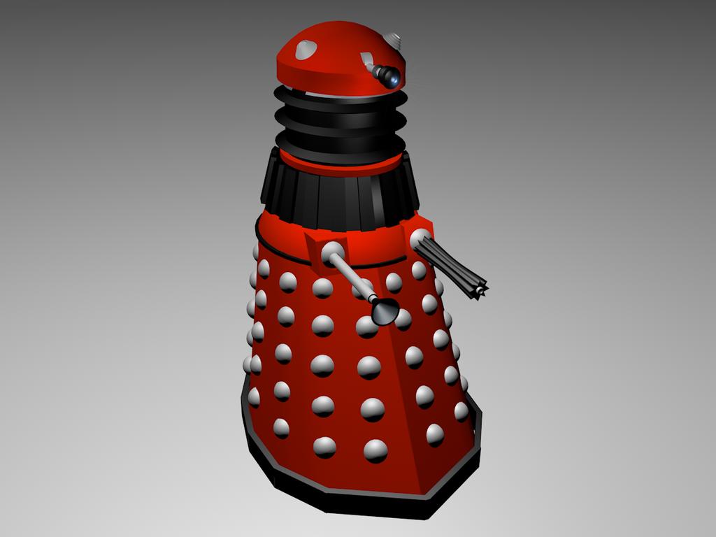 Red Dalek by BubblesAndTea