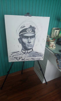 Rommel oil painting(unfinished)