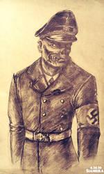 A zombie look familiar.