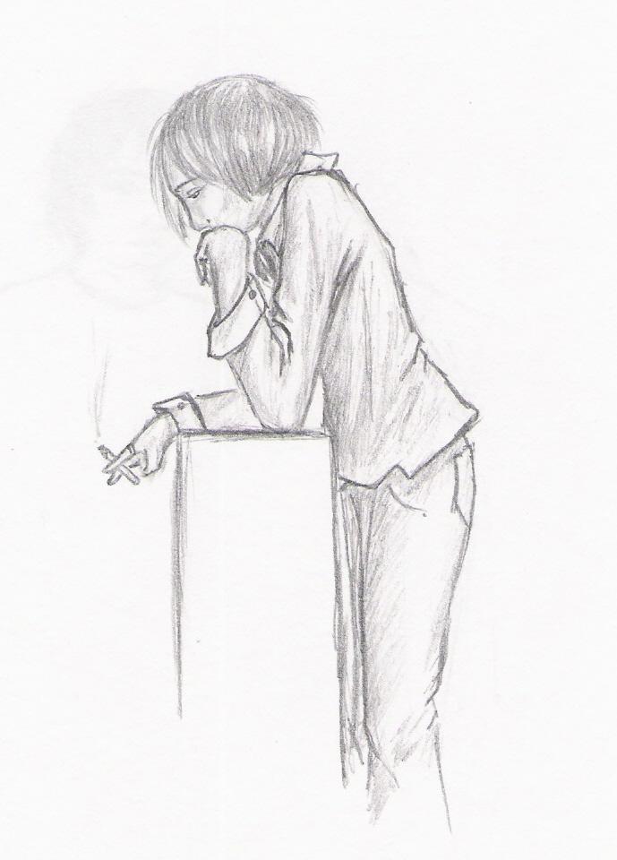 Smoking Girl Sketch By Aldadir On Deviantart