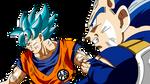 Goku SS Blue y Vegeta New Form