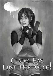 Commission: Claire Redfield Poster [Greyscale]