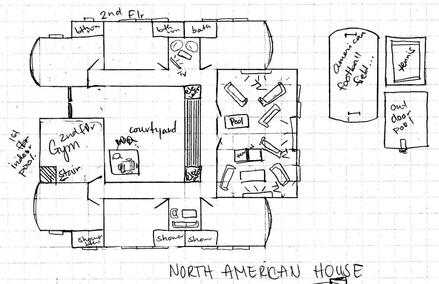 Wa namerican house blueprint by kissingdolls on deviantart for Gym blueprints
