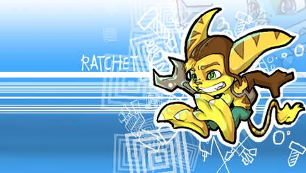 Ratchet PSP wallpaper